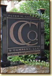 Peter M. Carrell & Company sign
